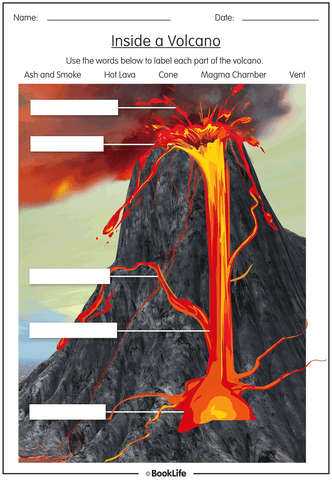 Inside a Volcano Worksheet
