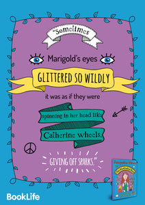 "Free Jacqueline Wilson ""Sometimes Marigold's Eyes Glittered..."" Poster by BookLife"