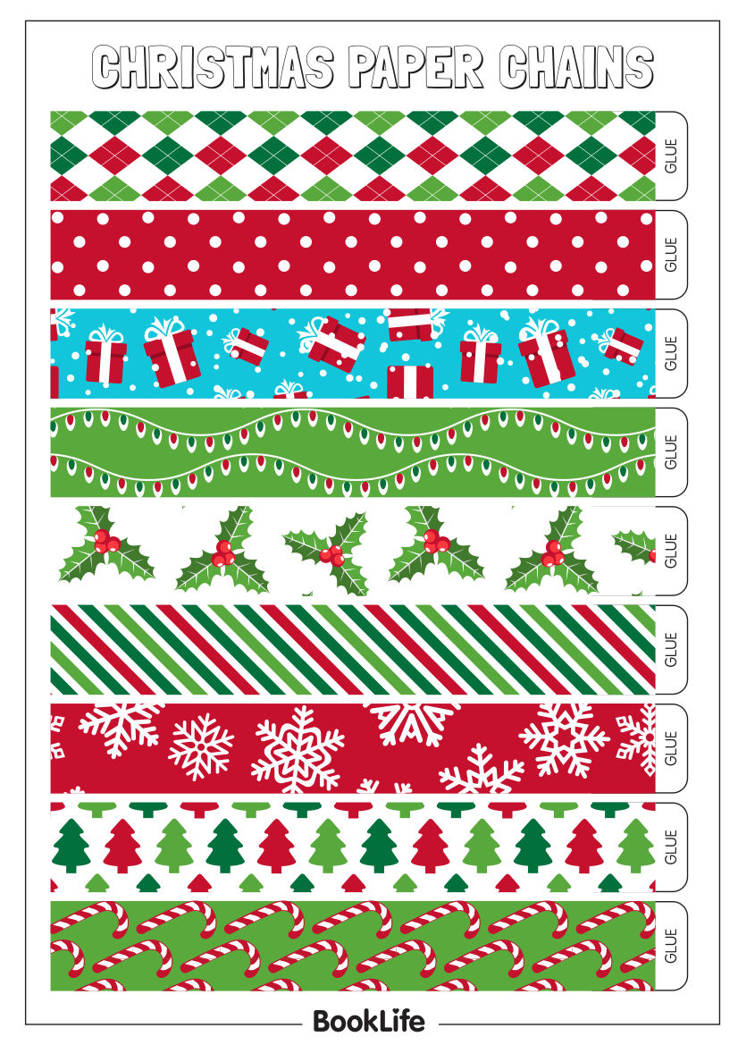 Christmas Paper Chains Activity Sheet