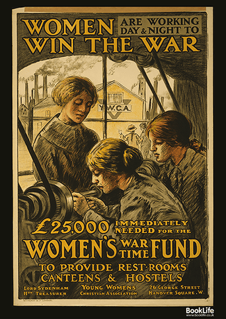 "Free WWI & WWII propaganda posters - ""Women Win the War"""