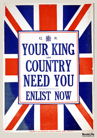 "Free WWI & WWII propaganda posters - ""Your King and Country"""