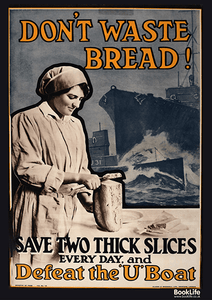 "WWI & WWII propaganda posters - ""Don't Waste Bread"" by BookLife"