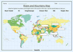 Rivers and Mountains Map by BookLife