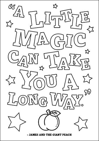 Free Roald Dahl Colour In Poster