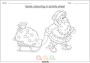 Santa Colouring In Activity Sheet by BookLife