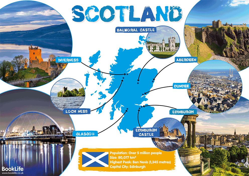 Map of Scotland Poster by BookLife
