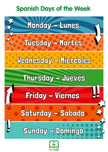 Free Spanish Days of the Week Poster by BookLife