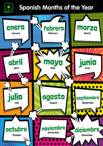 Free Spanish Months of the Year Poster by BookLife