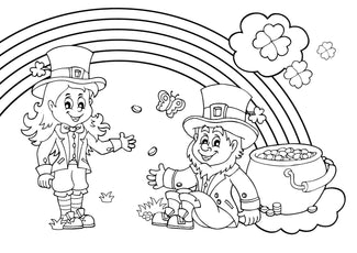 St Patrick's Day Colour In Activity Sheet