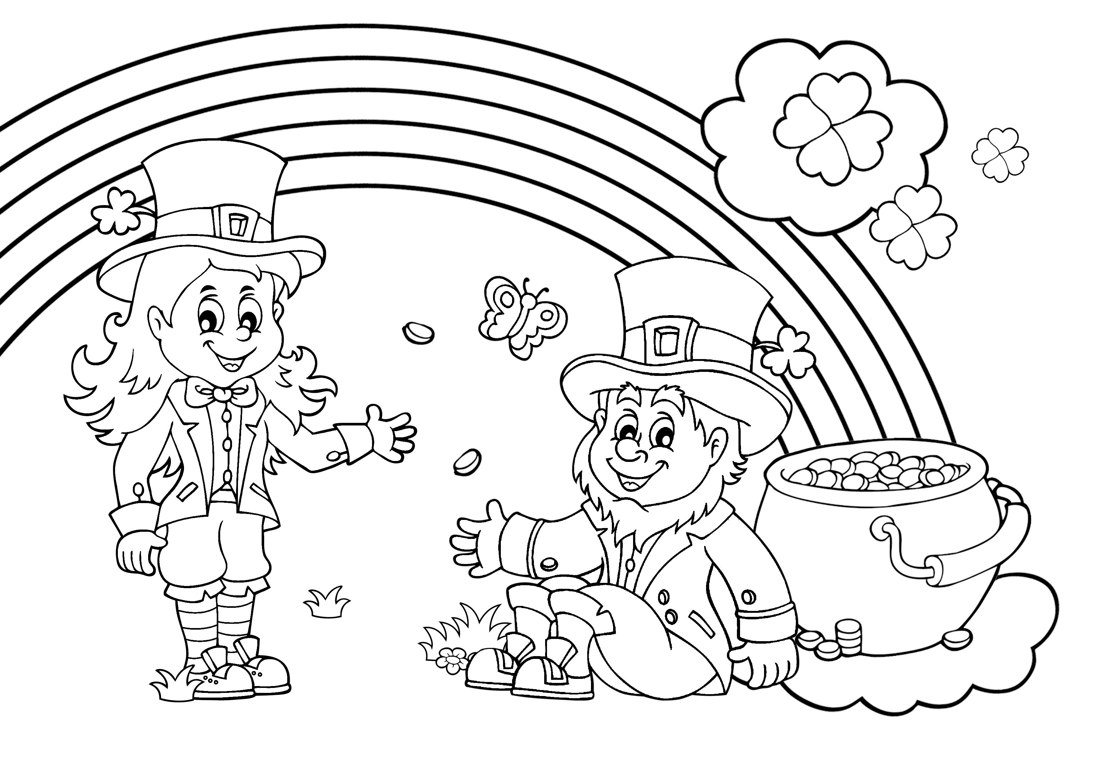 Printable St. Patrick's Day Turtle Coloring Page for Kids – SupplyMe   2480x3508