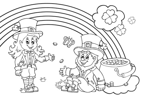 St Patrick's Day Colour In Activity Sheet by BookLife