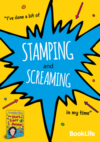 "Free Jacqueline Wilson ""I've done a bit of stamping..."" Poster by BookLife"