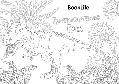 Free T.Rex Colouring Sheet by BookLife