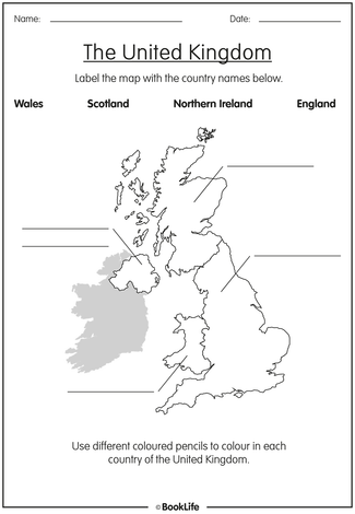 Free Activity Sheet The United Kingdom