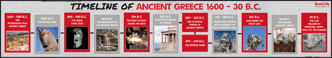 Timeline of Ancient Greece by BookLife