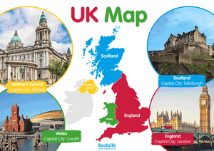 Map of the UK Poster by BookLife