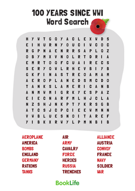 World War 1 Word Search by BookLife