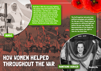 How Women Helped Throughout The War Poster by BookLife