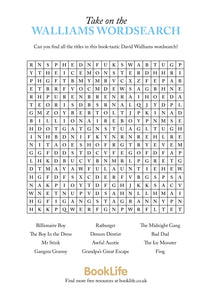 Free David Walliams Wordsearch by BookLife
