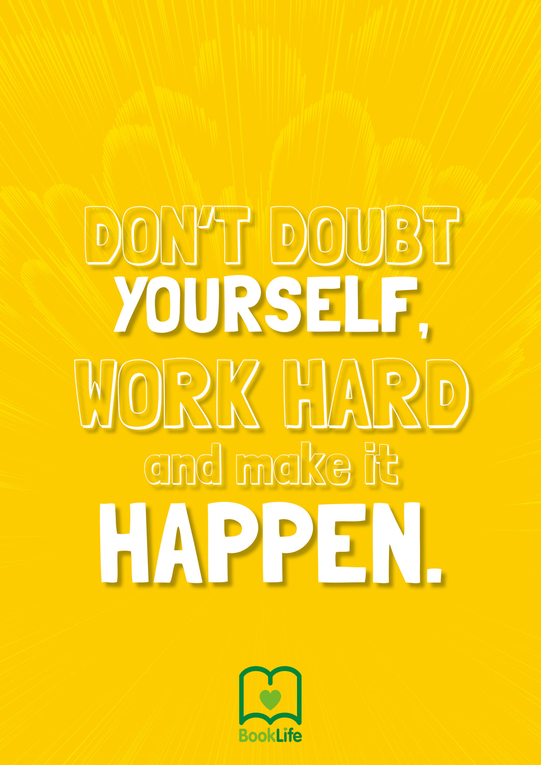Free Work Hard Quote Poster by BookLife