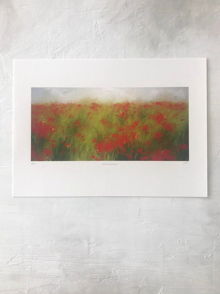 'Remembrance' - Poppy Field Fine Art Print
