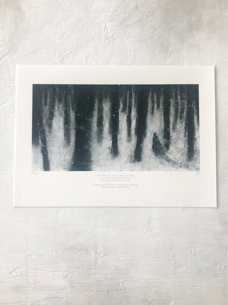 Robert Frost - Winter Woods Fine Art Print