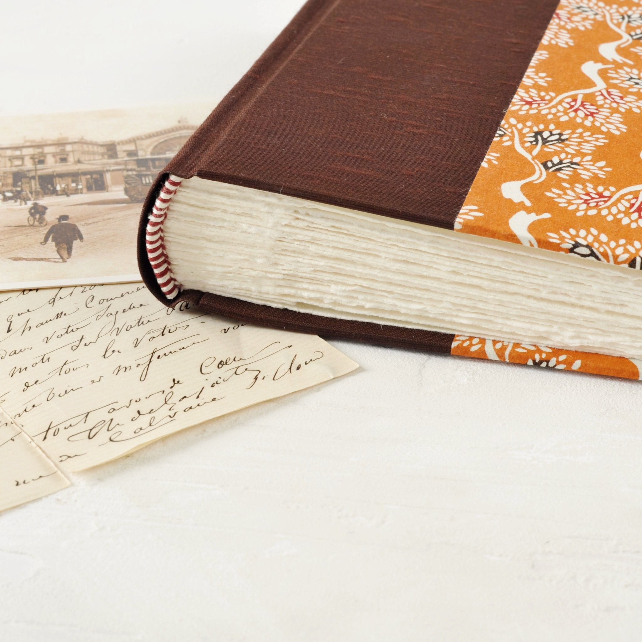 autumnal-small-photo album-deckled pages-traditional-handmade-london