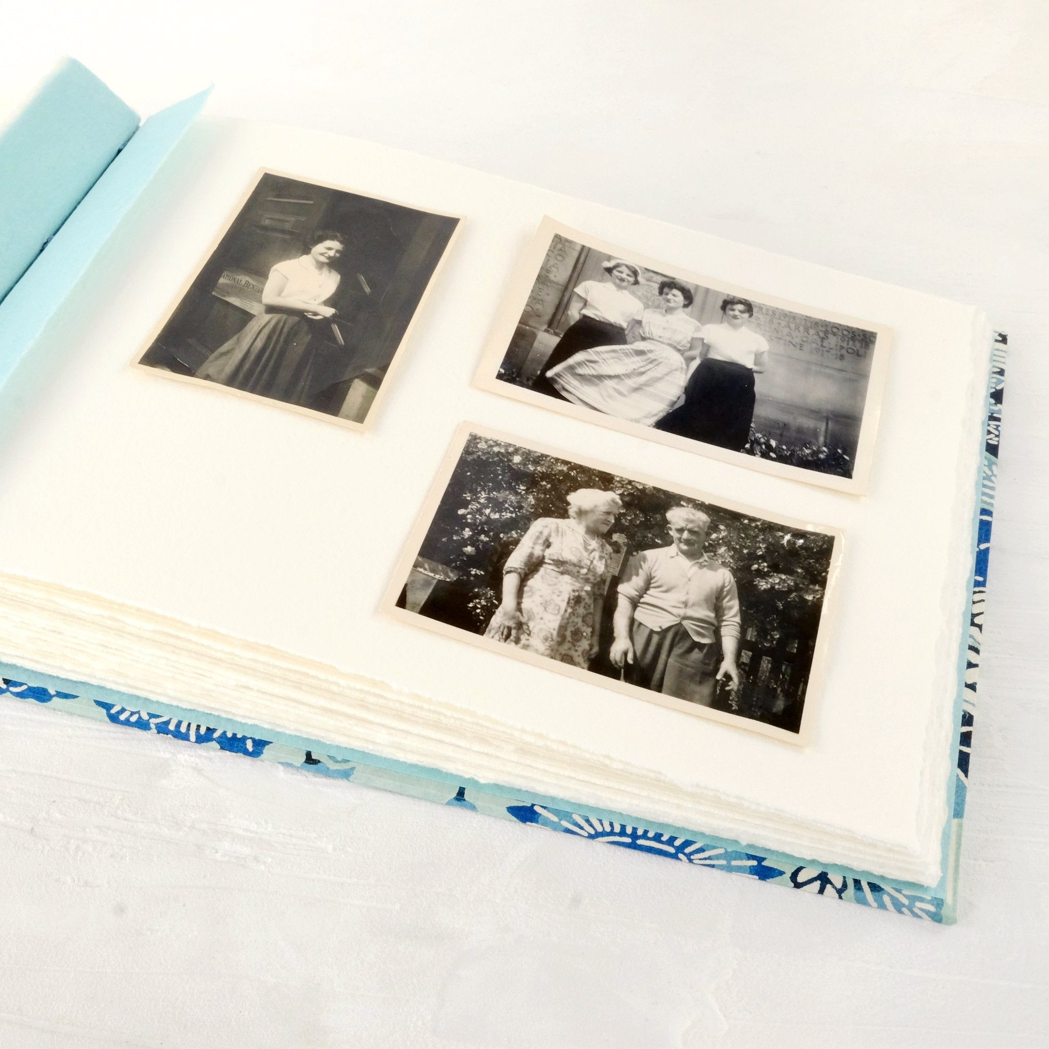 blue-photo album-coptic-handmade-london