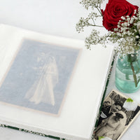 bold teal-wedding album-handcrafted-handmade-traditional photo book-glassine sheet-the idle bindery