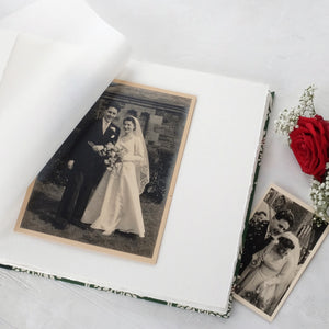 bold teal-wedding album-handcrafted-handmade-traditional photo book-interior-the idle bindery
