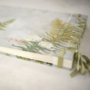 botancial-elegant wedding album-back cover-bespoke artwork-handmade-london