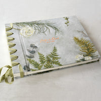 botancial-elegant wedding album-front cover-foil personalisation-bespoke artwork-handmade-london
