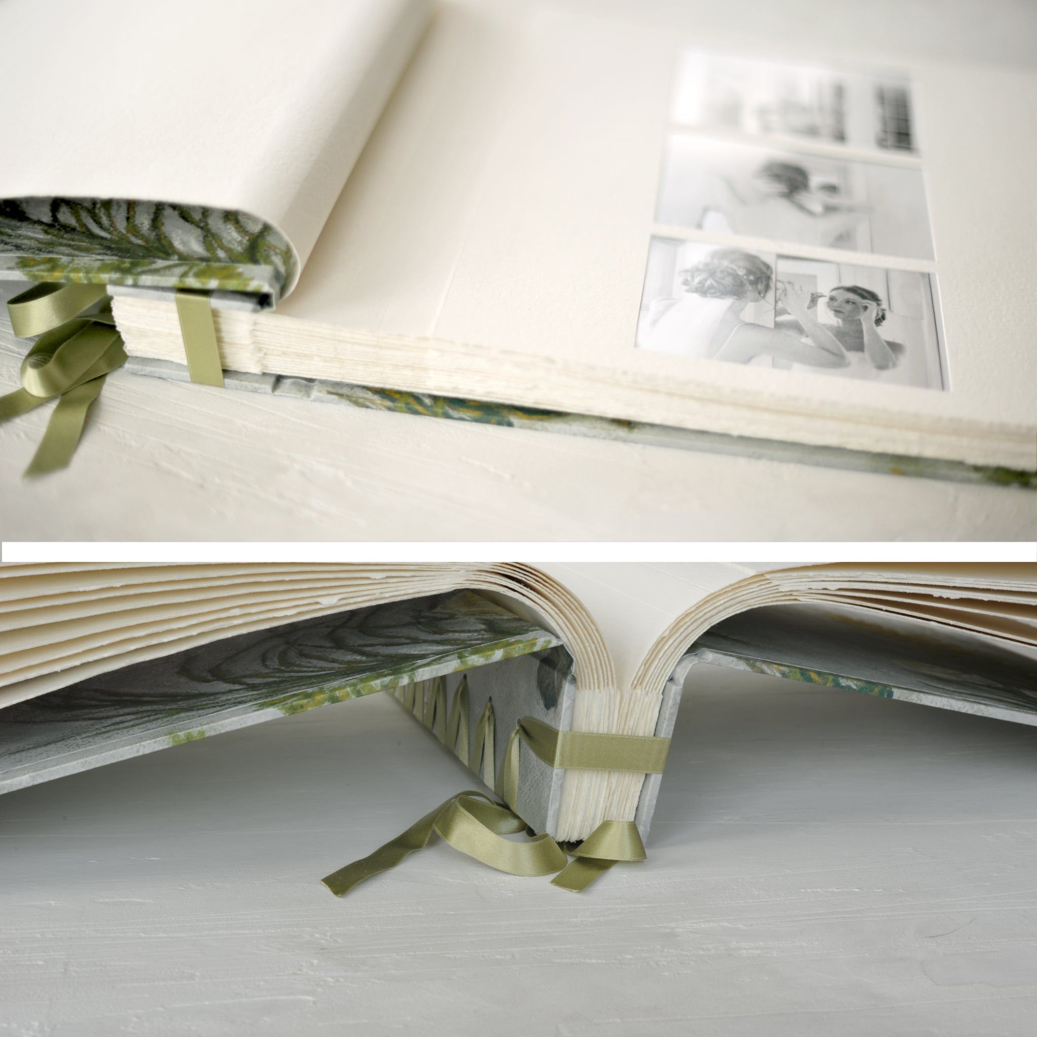 botancial-elegant wedding album-interior details-bespoke artwork-handmade-london