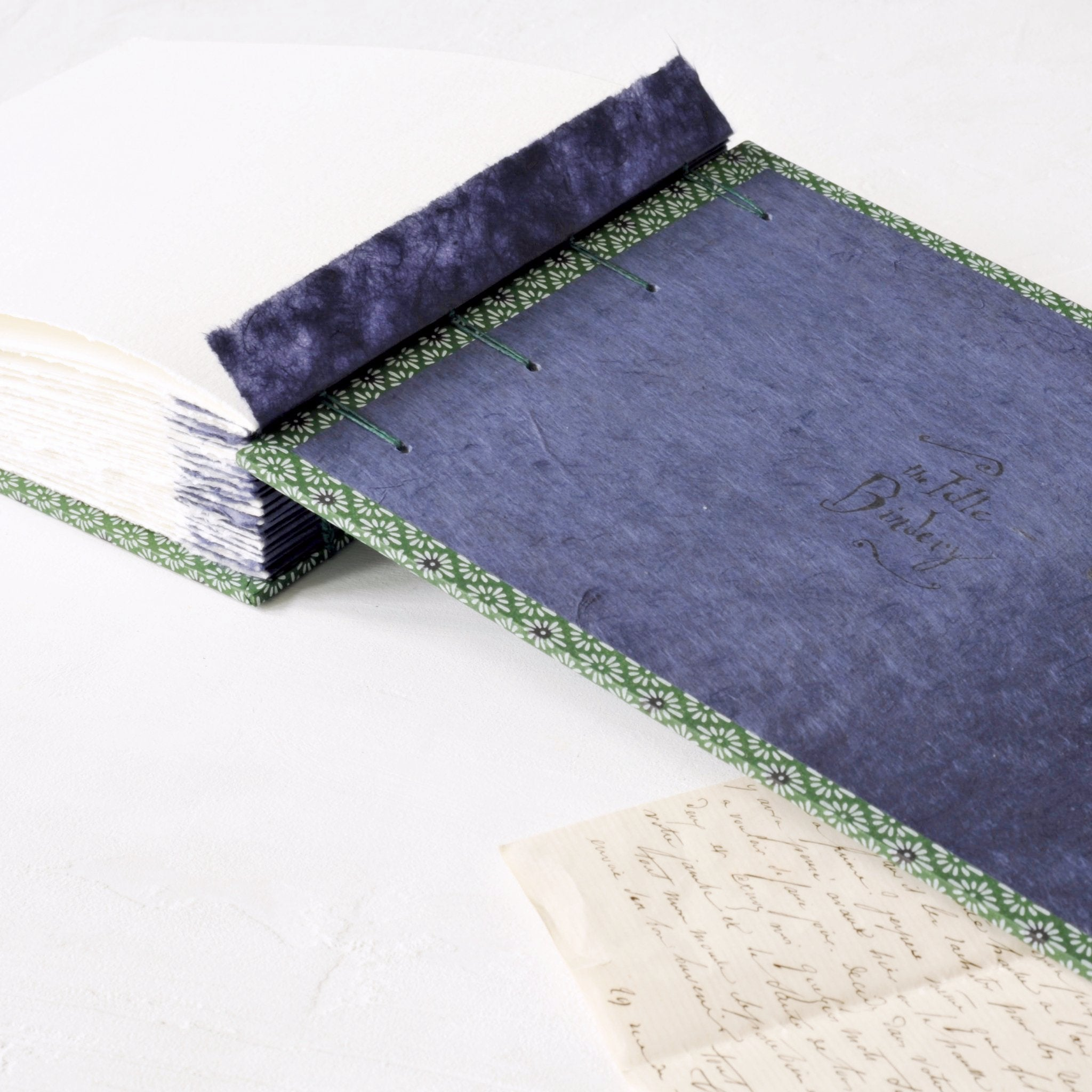 green and purple-photo album-coptic-handmade-london