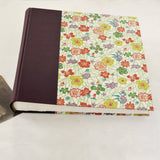purple vine-wedding album-cover-handmade-london
