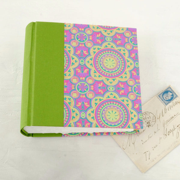 pink and green-mini album-cover-handmade photo album