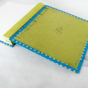 spot-coptic-album-back cover-exposed stitch-handmade-the idle bindery