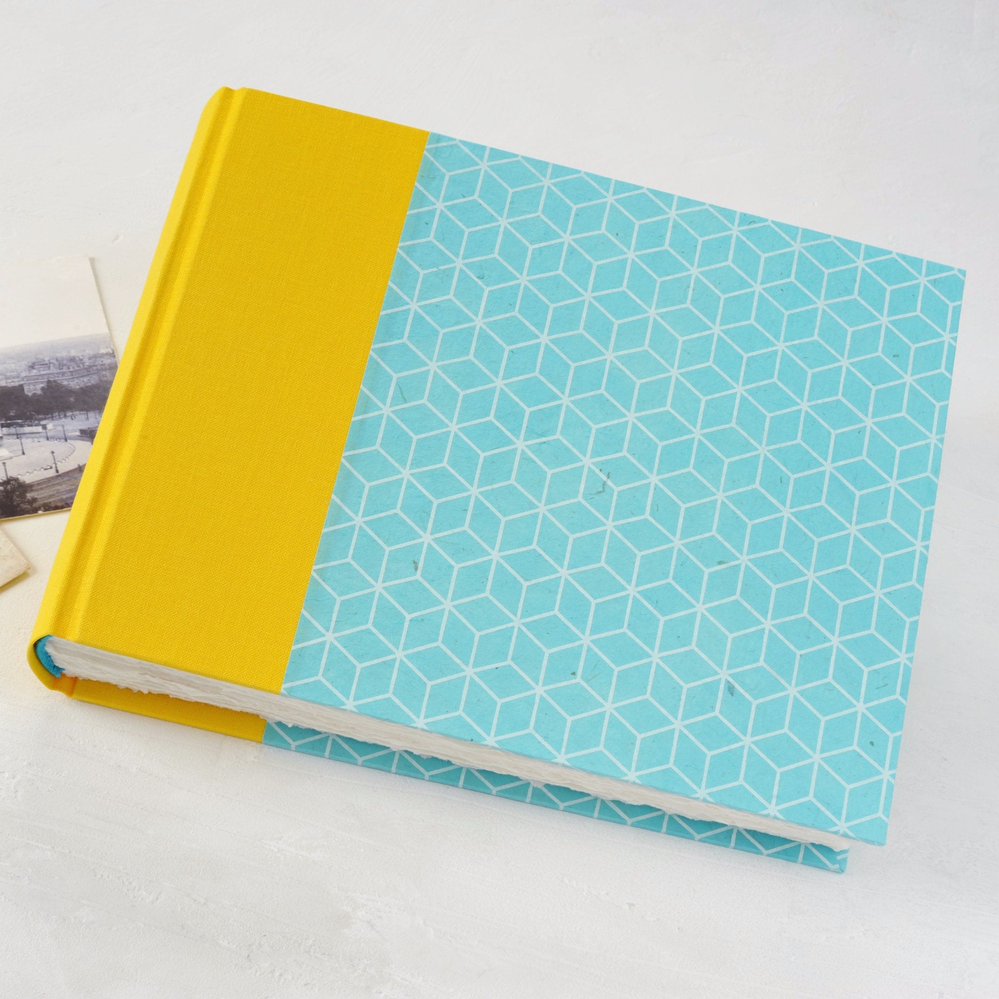 summer-photo album-traditional-cover-handmade-london