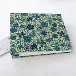 teal vine-coptic album-hand sewn-cover-handmade-the idle bindery