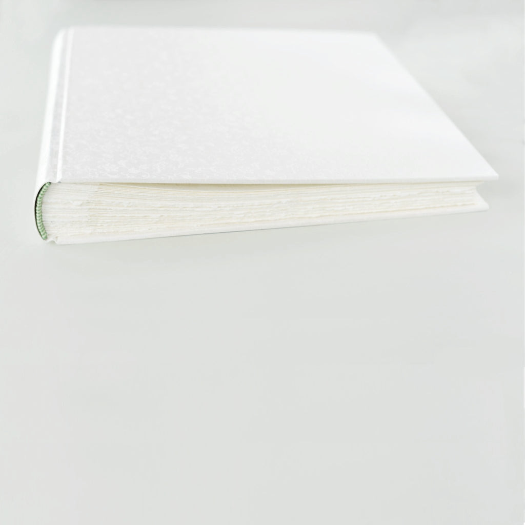 white silk-elegant wedding album-traditional-cover-handmade-london
