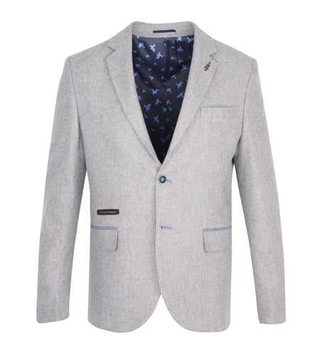 Fratelli Uniti Smart Jacket in Sky Blue & Cream