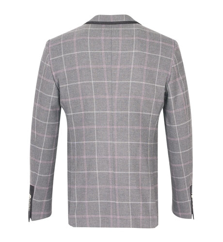 Fratelli Uniti Checked Jacket with trim Pocket and Collar