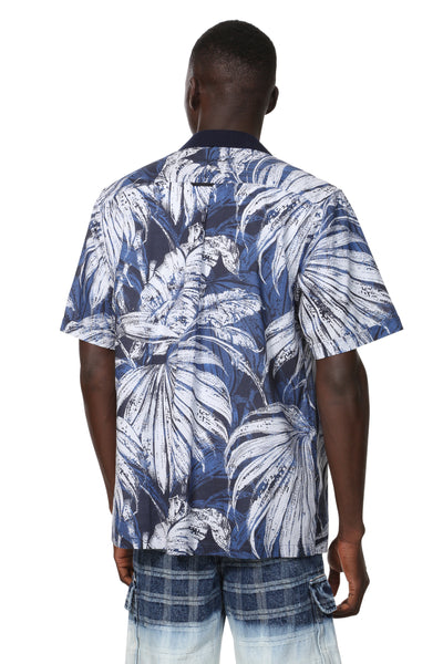 z - Desigual Tropical Leaves Shirt Austin