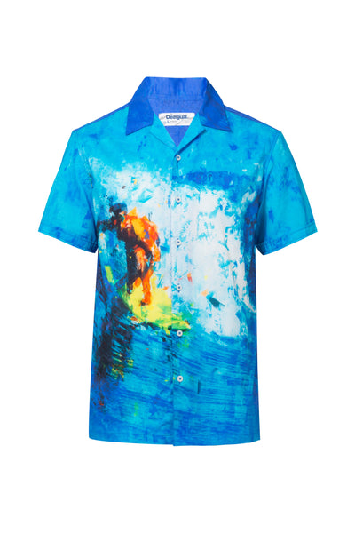 z - Desigual Open Neck Surfer Shirt Boon
