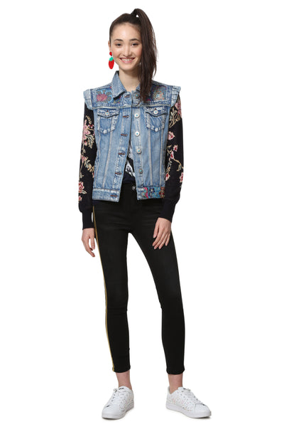 Desigual Mismatched Jacket Mexican Classic