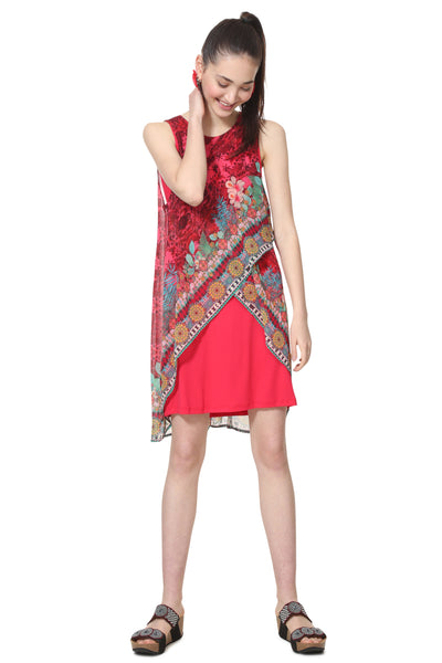 Desigual MULTILAYER FLORAL DRESS MONIQUE
