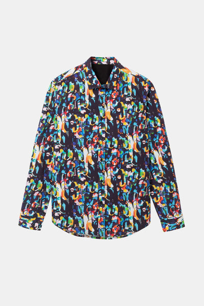 Desigual Long-sleeved colourful shirt
