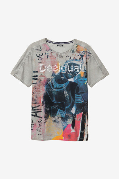 Desigual Double V-neck T-shirt