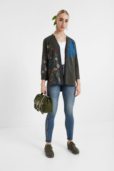 Desigual Embroidered flowers blouse