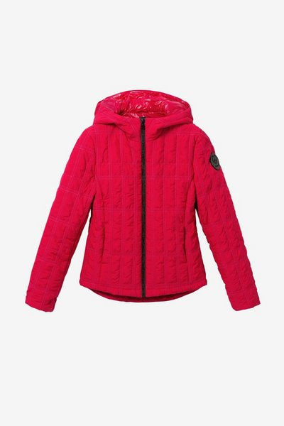 Desigual Short padded jacket with hood Red
